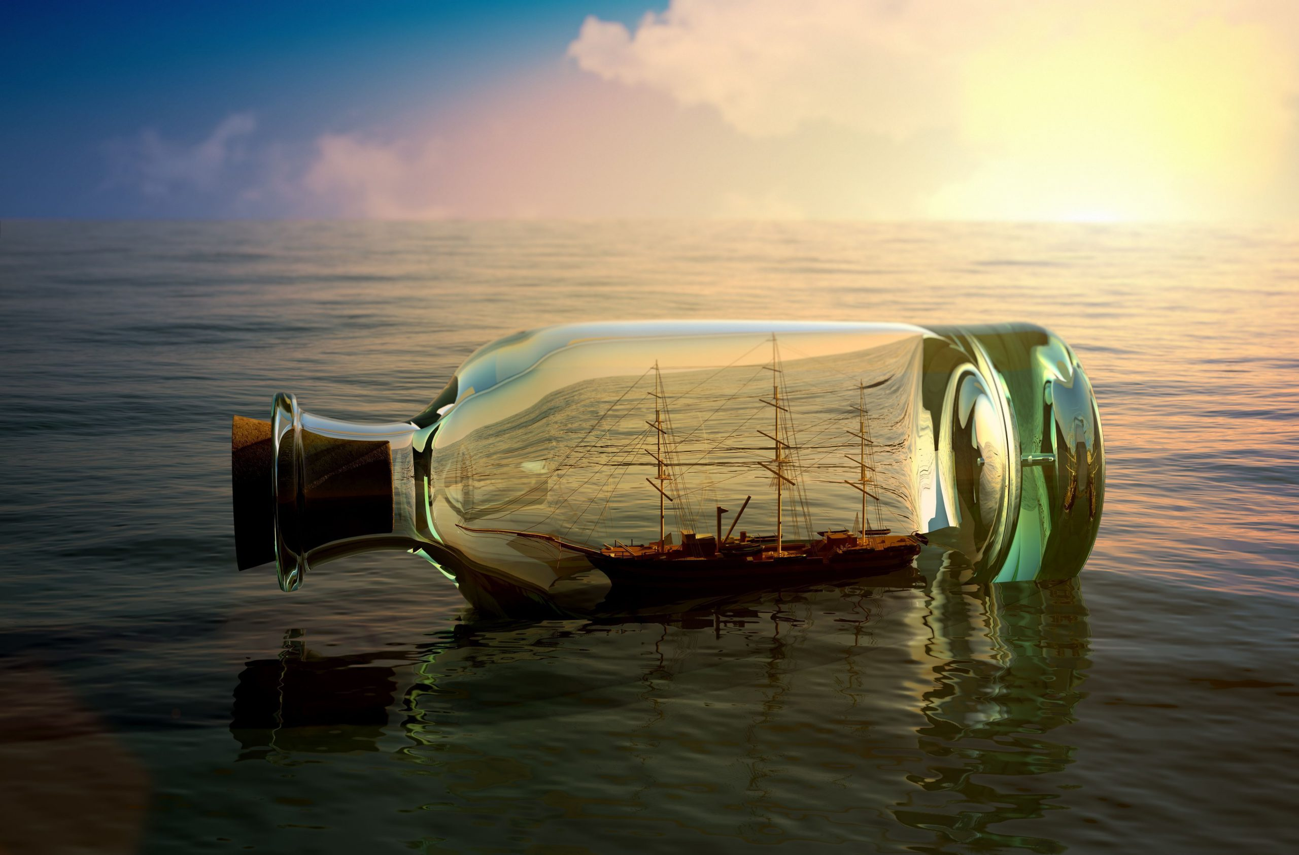 Ship-in-the-bottle